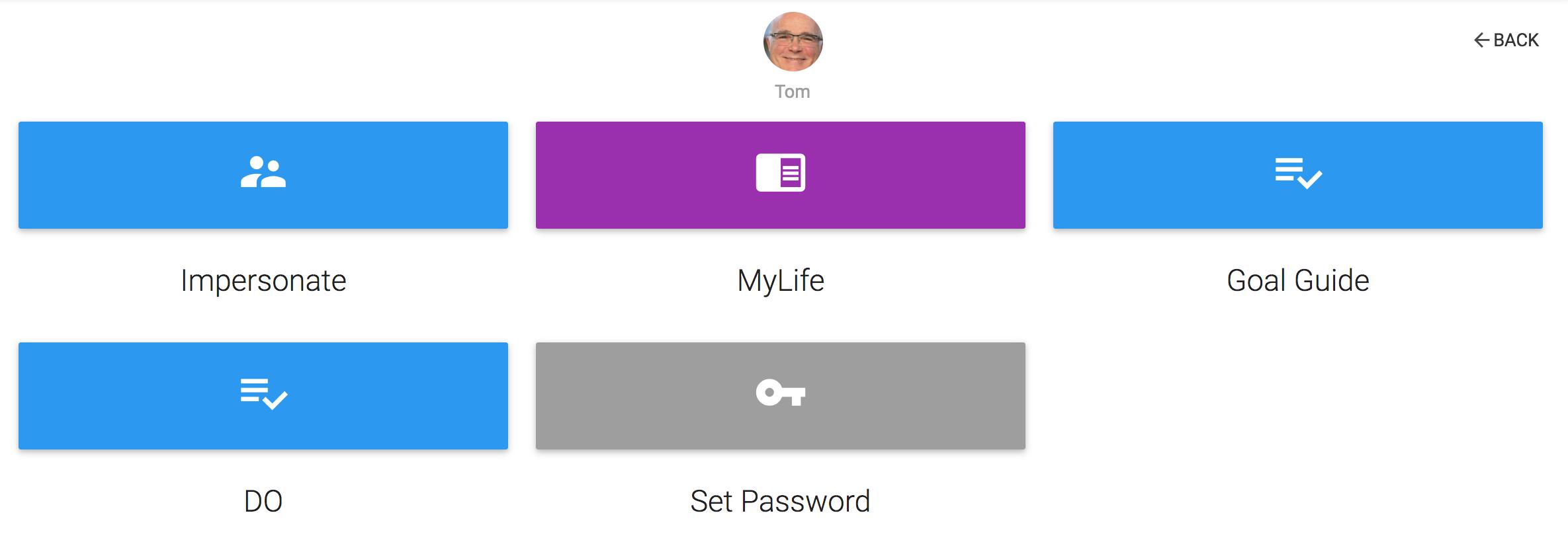 Assist User menu
