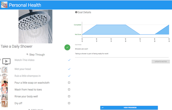 Personal Health Tracking with Goal Guide