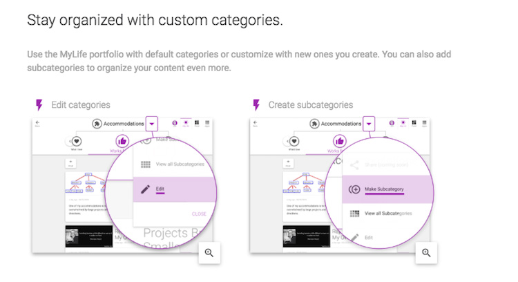 Create new custom categories
