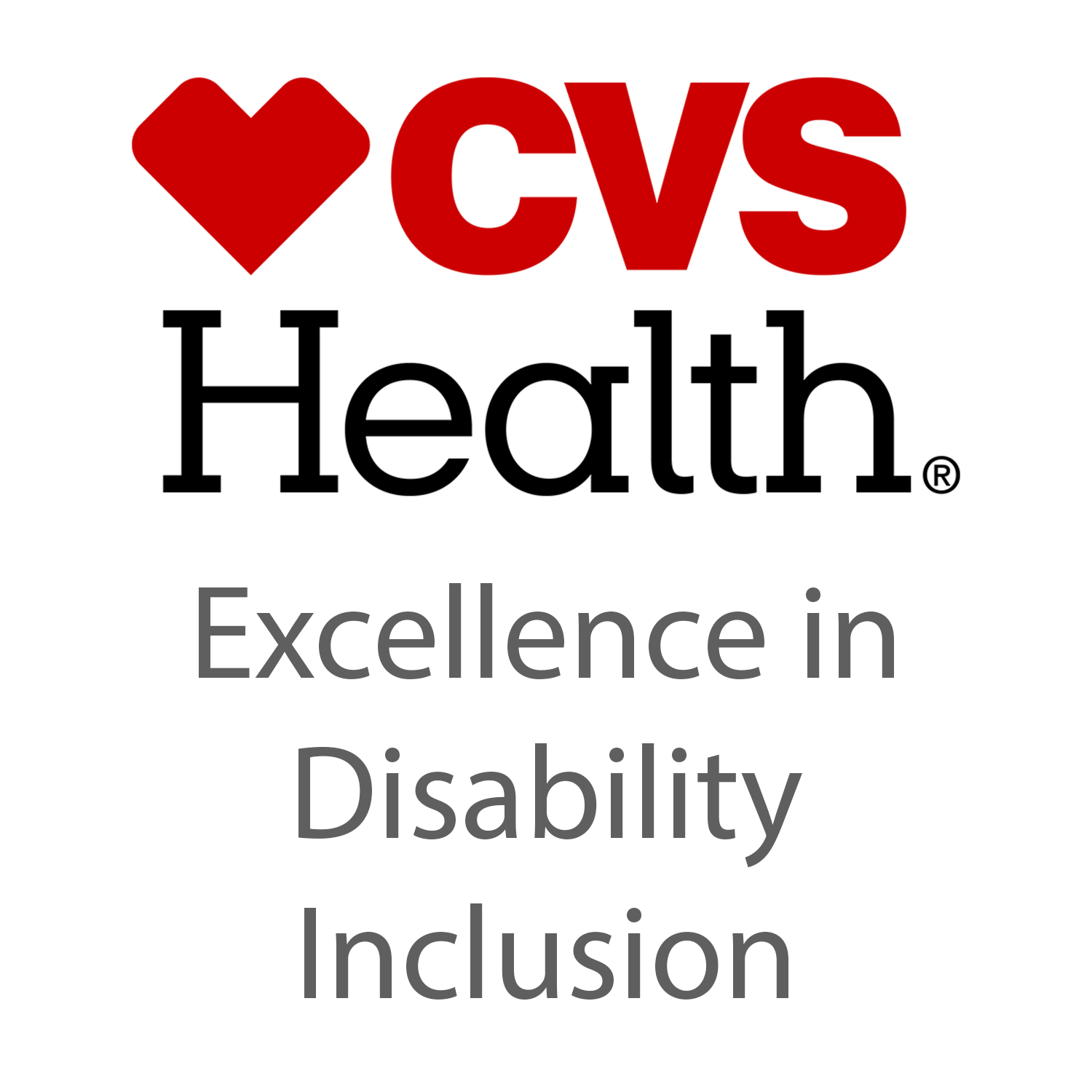 Image shows a banner that displays CVS Health Excellence in Disability Inclusion