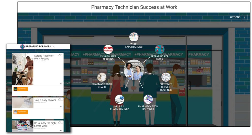 Image showing how a Tennessee Rehabilitation Center student developed a digital portfolio using Cognitopia to foster her employment success.